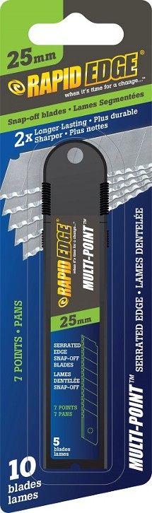 25mm - Serrated Snap-Off Blades