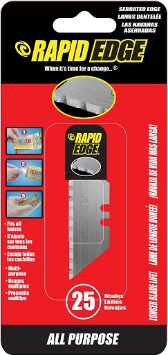 Rapid Edge 25 Serrated Blades